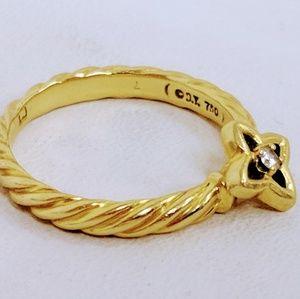 David Yurman Quatrefoil 18k Ring
